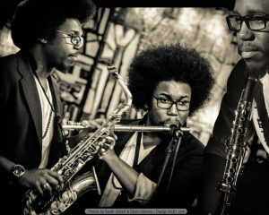 Photography of Rafael C Powell, II Poster playing flute, clarinet and saxophone!